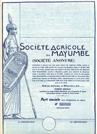 SOCIÉTÉ AGRICOLE De MAYUMBE - Agriculture