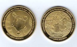 Médaille Touristique De La Fonderie Saint-Luc - 22 Plédéliac - Château De La Hunaudaye Vue Générale Et Vue Aérienne - Touristiques