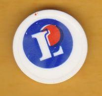 Jeton De Caddie En Plastique - Leclerc - Supermarché - Revers 1€ - Trolley Token/Shopping Trolley Chip
