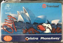 AUSTRALIE  -  Phonecard  -  TELSTRA  -  TRAVELAND  -  Swimming Olly  -  03/2002  (neuve) - Australia