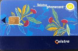 AUSTRALIE  -  Phonecard  -  TELSTRA  -  Gum Blossoms  -  $ 5 - Australia