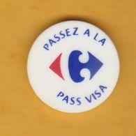 Jeton De Caddie En Plastique - Carrefour - Passez à La Pass Visa - Supermarché - Jetons De Caddies