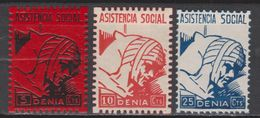 1937 DENIA ASISTENCIA SOCIAL SERIE COMPLETA NUEVA. VER - Verschlussmarken Bürgerkrieg
