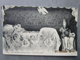 """CPA 22 Ploulec'h Près Lannion La Chapelle ND LE YAUDET,la Vierge  Couchée Et L""""enfant Dentelle à Côté Isaïe Prophète1910 - Lannion"""