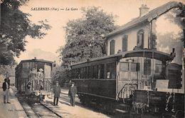 CPA SALERNES (Var) - La Gare - Salernes