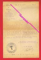 CAEN 1943 Prisonnier De Guerre Ouvrier Agricole Au Titre De La Relève Etat Français Mme LARUE à LE BÔ Par PONT D'OUILLY - Sin Clasificación