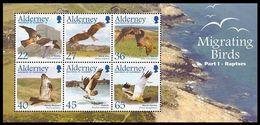 Feuillet De Timbres - Oiseaux, Rapaces, Faucon, Milan, Bondrée, Balbuzard, Busard (Birds, Raptors - Guernesey) - Aigles & Rapaces Diurnes