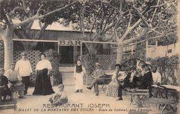 CPA RESTAURANT JOSEPH - CHALET DE LA FONTAINE DES TUILES - Route Du Littoral, Près L'Estaque - L'Estaque