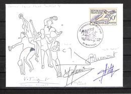 """ENVELOPPE 29ème KERMESSE DU BOL D AIR 1979 / DÉDICACES """" Equipe De France Féminine De Fleuret """"ARGENT"""" MONTRÉAL 1976 - Fechten"""