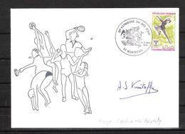 ENVELOPPE 29ème KERMESSE BOL D AIR 1979 / DÉDICACE D'Anne Sophie De KRISTOFFY - Triple Championne De France 1978/79/80 - Eiskunstlauf