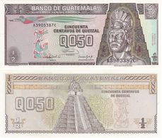 Guatemala - 1/2 Quetzal 1992 P. 72b UNC Lemberg-Zp - Guatemala