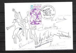 ENVELOPPE 29ème KERMESSE BOL D AIR 1979 / DÉDICACE ESCRIME FRANÇAIS : D ORIOLA / CERETTI / TRINQUET / DEMAILLE / TALVARD - Fechten