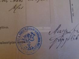 D172651 Old Document -Slovakia Szakolcza Szakolca SKALICA Franciscus Zelenka (1854)  Tomanek - Mezey Ferenc 1883 - Nacimiento & Bautizo