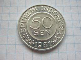 Indonesia , 50 Sen 1961 - Indonésie