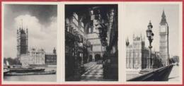 Londres. Angleterre. Pochette De 8 Photographies. 8 Vues (9*6,5 Cm). Big Ben, Westminster  ... Edition Magna Crome. - Places