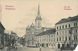 1895/1905 - BRATISLAVA   SYNAGOGE , Gute Zustand ( Unten Ecke Minimal Kaput) , 2 Scan - Slowakije