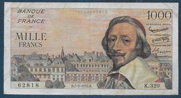 Billet 1000 Fr  Richelieu  Du  7 - 3 - 1957 - 1871-1952 Gedurende De XXste In Omloop