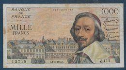 Billet 1000 Fr  Richelieu  Du  3 - 3 - 1955 - 1871-1952 Gedurende De XXste In Omloop