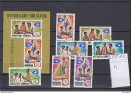 Togo Michel Cat.No. Mnh/** 672/678 + Shhet 36 Scouts - Togo (1960-...)