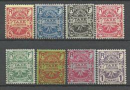 REUNION TAXE N° 6 à 13 NEUF* AVEC OU  TRACE DE CHARNIERE / MH - Reunion Island (1852-1975)
