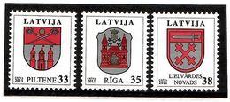Latvia 2012 . COA 2012 . 3v: 33,35,38. Michel # 824-26 - Lettonie