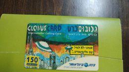 Israel Globus Card-bezeq International Not Parivat Card-(150units)-mint(31.12.1998)+2card Prepiad Free31.12.1998 - Israel