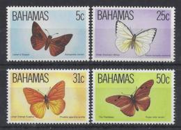 """BAHAMAS...QUEEN ELIZABETH II.(1952-NOW.)....."""" 1983..""""....BUTTERFLIES.....SG653-6........SET OF 4.......LMH. - Vlinders"""