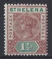"ST. HELENA.....QUEEN VICTORIA..(1837-01)..."" 1890..""....1 AND HALFd........SG48.......MH. - Saint Helena Island"