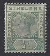"ST. HELENA.....QUEEN VICTORIA..(1837-01)..."" 1890..""....HALFd........SG46.......MH. - Saint Helena Island"