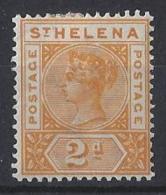 "ST. HELENA.....QUEEN VICTORIA..(1837-01)..."" 1890.."".......2d........SG49.......MH. - Saint Helena Island"