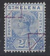 "ST. HELENA.....QUEEN VICTORIA..(1837-01)..."" 1890..""......2 AND HALFd.......SG50........REMANDER......VFU. - Isola Di Sant'Elena"