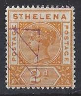 """ST. HELENA.....QUEEN VICTORIA..(1837-01)..."""" 1890..""""......2d.......SG49........REMANDER......VFU. - Isola Di Sant'Elena"""