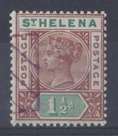 "ST. HELENA.....QUEEN VICTORIA..(1837-01)..."" 1890..""......1 AND HALFd.......SG48........REMANDER......VFU. - Isola Di Sant'Elena"