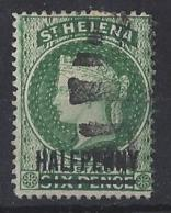 "ST. HELENA.....QUEEN VICTORIA..(1837-01)..."" 1884..""....HALFd ON 6d.......SG36........WORDS 145mm.......VFU.. - Isola Di Sant'Elena"