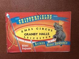PROGRAMME CIRQUE   XMAS CIRCUS FESTIVAL  Chipperfields  BINGLEY HALL  Birmingham  ROUAUME-UNI  26th December 1959 - Programme