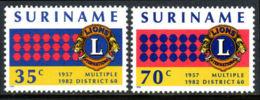 Suriname, 1982, Lions Club, MNH, Michel 983-984 - Surinam