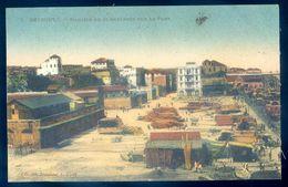 Cpa Du Liban Beyrouth Magasin De Subsistance Sur Le Port   AVR20-88 - Lebanon