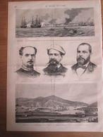 1873    ESPAGNE  Carthagene  Refuge Des Intransigeants   Pavai   Valdespina  Contreras    Le Bombardement Alméria - Vieux Papiers