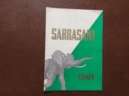 PROGRAMME CIRQUE  SARRASANI   Allemagne  PROGRAMME 1961 - Programme