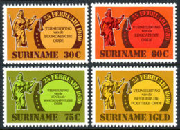 Suriname, 1981, Social And Political Reforms, MNH, Michel 934-937 - Surinam
