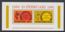 Suriname, 1981, Social And Political Reforms, MNH, Michel Block 28 - Surinam