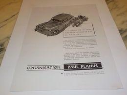 ANCIENNE  PUBLICITE ORGANISATION PAUL PLANUS 1947 - Altri