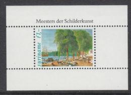 Suriname, 1981, Paintings, Art, MNH, Michel Block 31 - Surinam