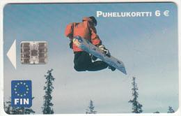 FINLAND - Snowboard, Fin Telecard 6 Euro, Tirage 75000, 11/02, Used - Finlande