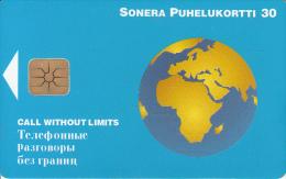 FINLAND - Globe, Sonera Telecard, Tirage 50000, 08/98, Used - Finlande