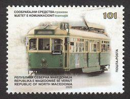 North Macedonia 2020 Transportation Tramway Tram Railway MNH - Macédoine