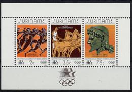 Suriname, 1984, Olympic Summer Games Los Angeles, Sports, MNH, Michel Block 37 - Surinam