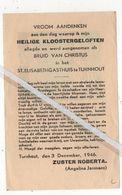 TURNHOUT..1946.. HEILIGE KLOOSTERGELOFTEN ST. ELISABETHGASTHUIS / ZUSTER NORBERTA / ANGELINA JANSSENS - Devotion Images