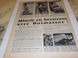 ANCIENNE AFFICHE PUBLICITE MINCIR AVEC BUIMASSOR 1958 - Afiches