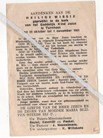 TURNHOUT..1961.. HEILIGE MISSIE / PASTOOR J. HEUVELMANS / ONDERPASTOOR K. WILLEKENS - Devotion Images